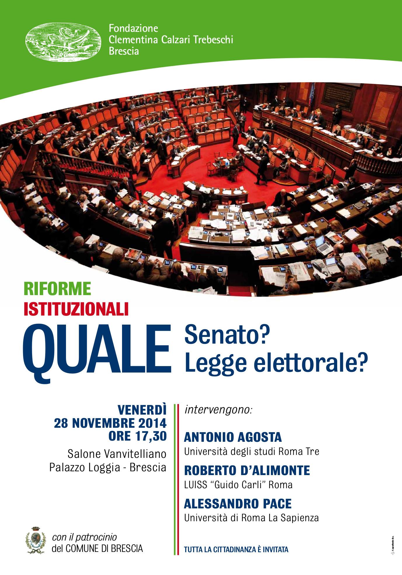 Riforme istituzionali: quale Senato? Quale legge elettorale?