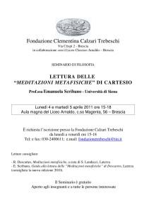 """Lettura delle """"Meditazioni Metafisiche"""" di Cartesio"""