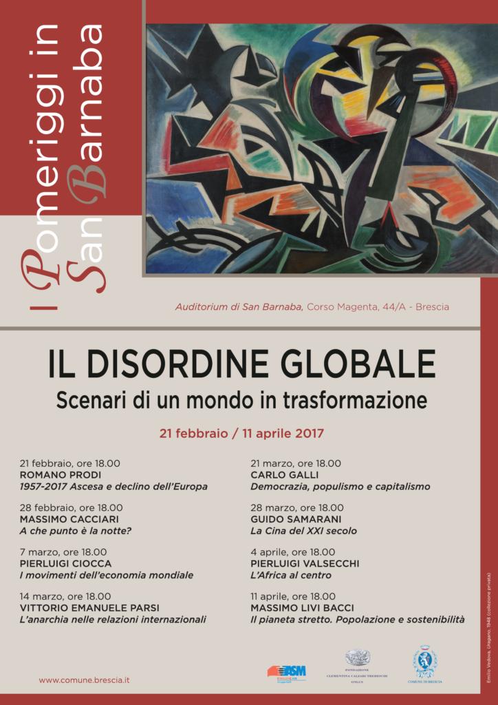 "Locandina ""Il disordine globale"""