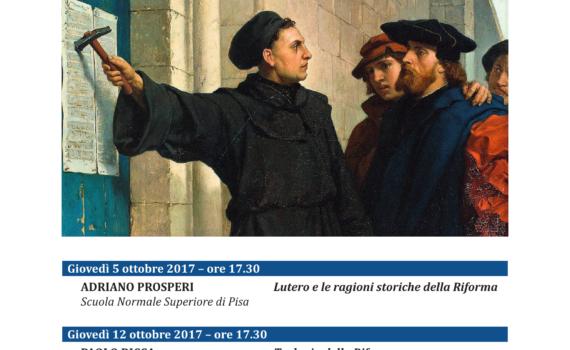 """Locandina """"1517 – 2017 A cinquecento anni dalla Riforma Protestante"""""""